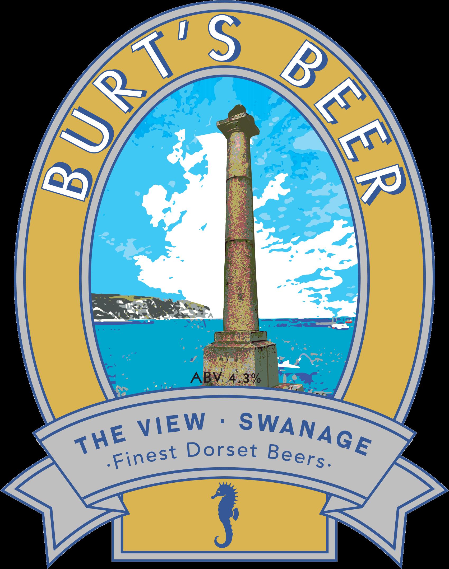 Isle of Purbeck Brewery Burt's Beer pumpclip PNG