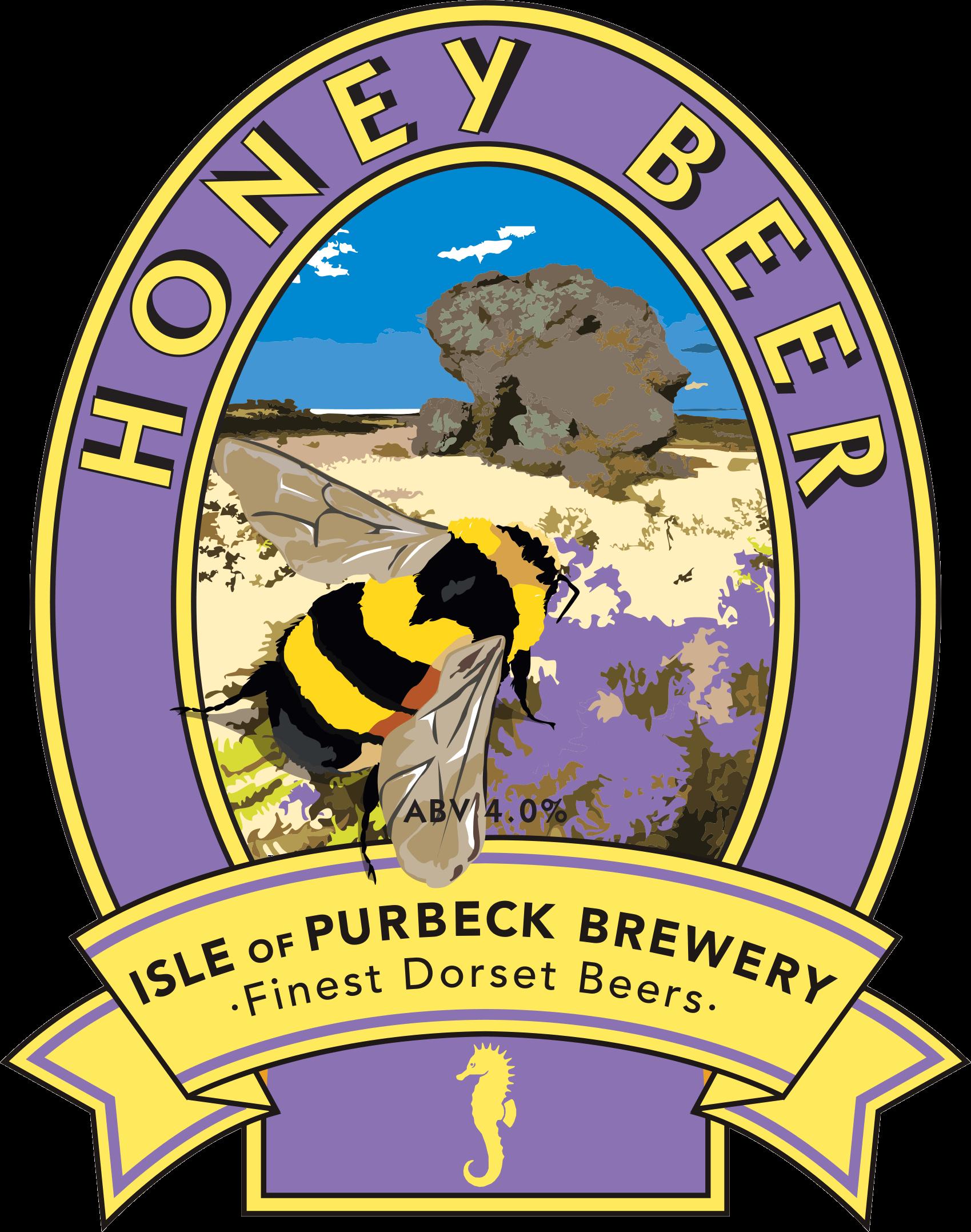 Isle of Purbeck Brewery Honey Beer pumpclip PNG