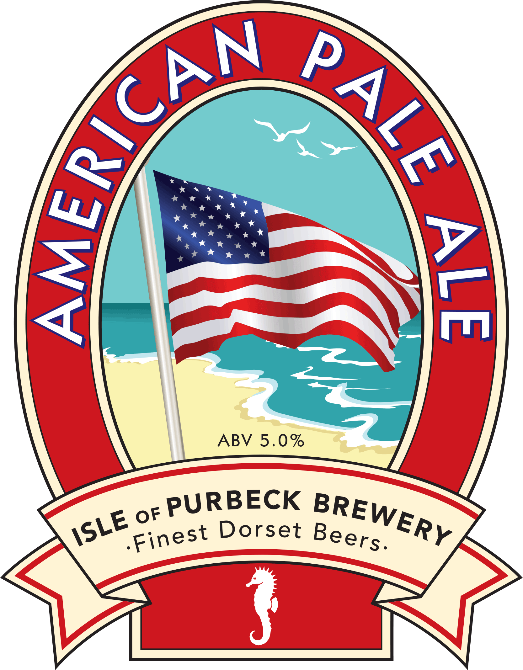 Isle of Purbeck Brewery American Pale Ale pumpclip PNG
