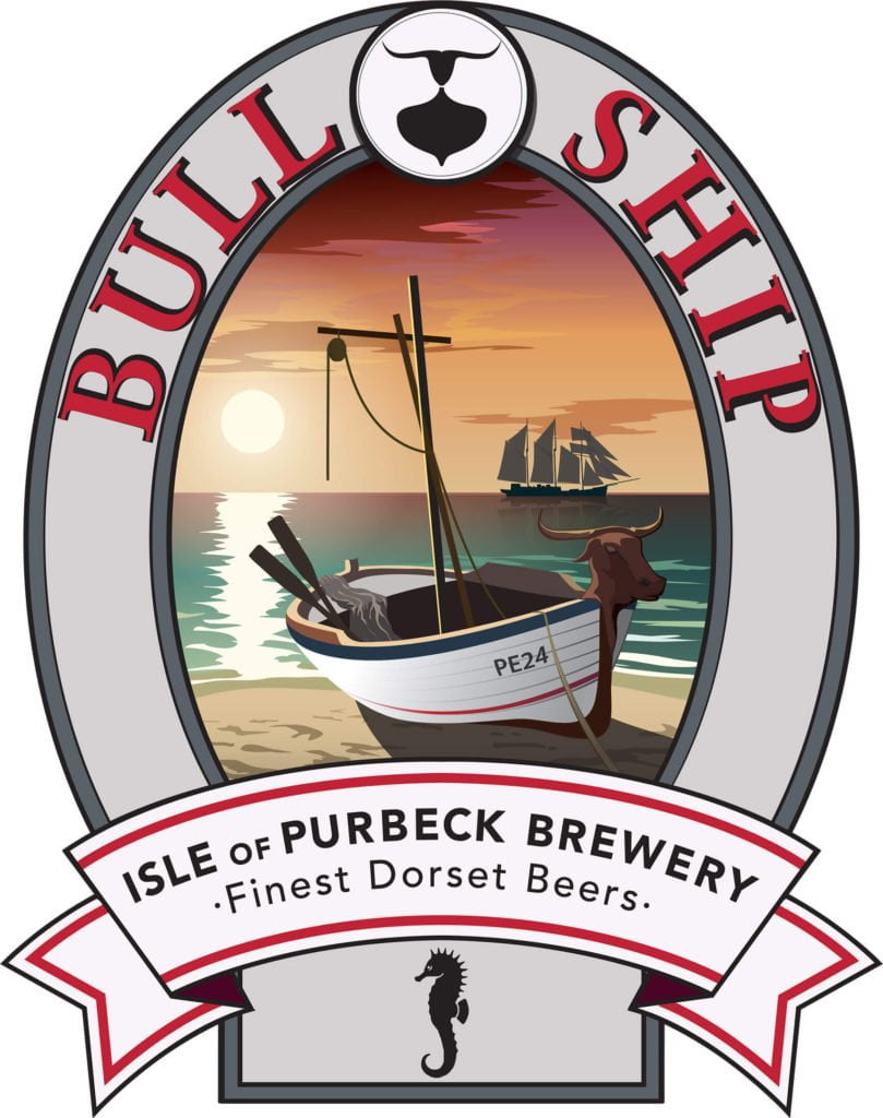 Isle of Purbeck Brewery Bull Ship pumpclip JPG