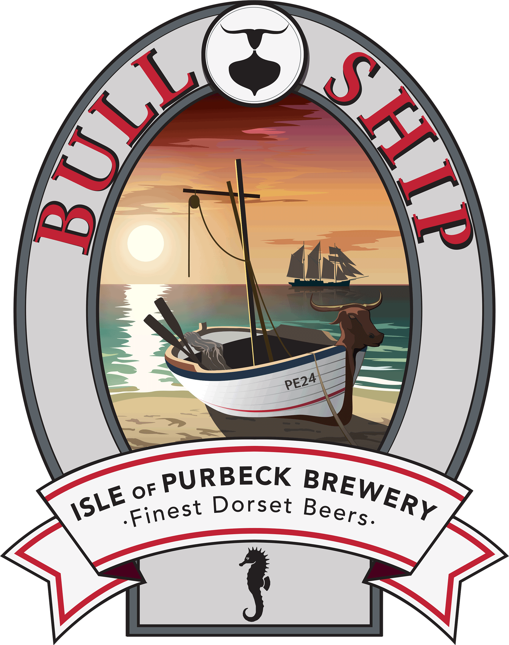 Isle of Purbeck Brewery Bull Ship pumpclip PNG