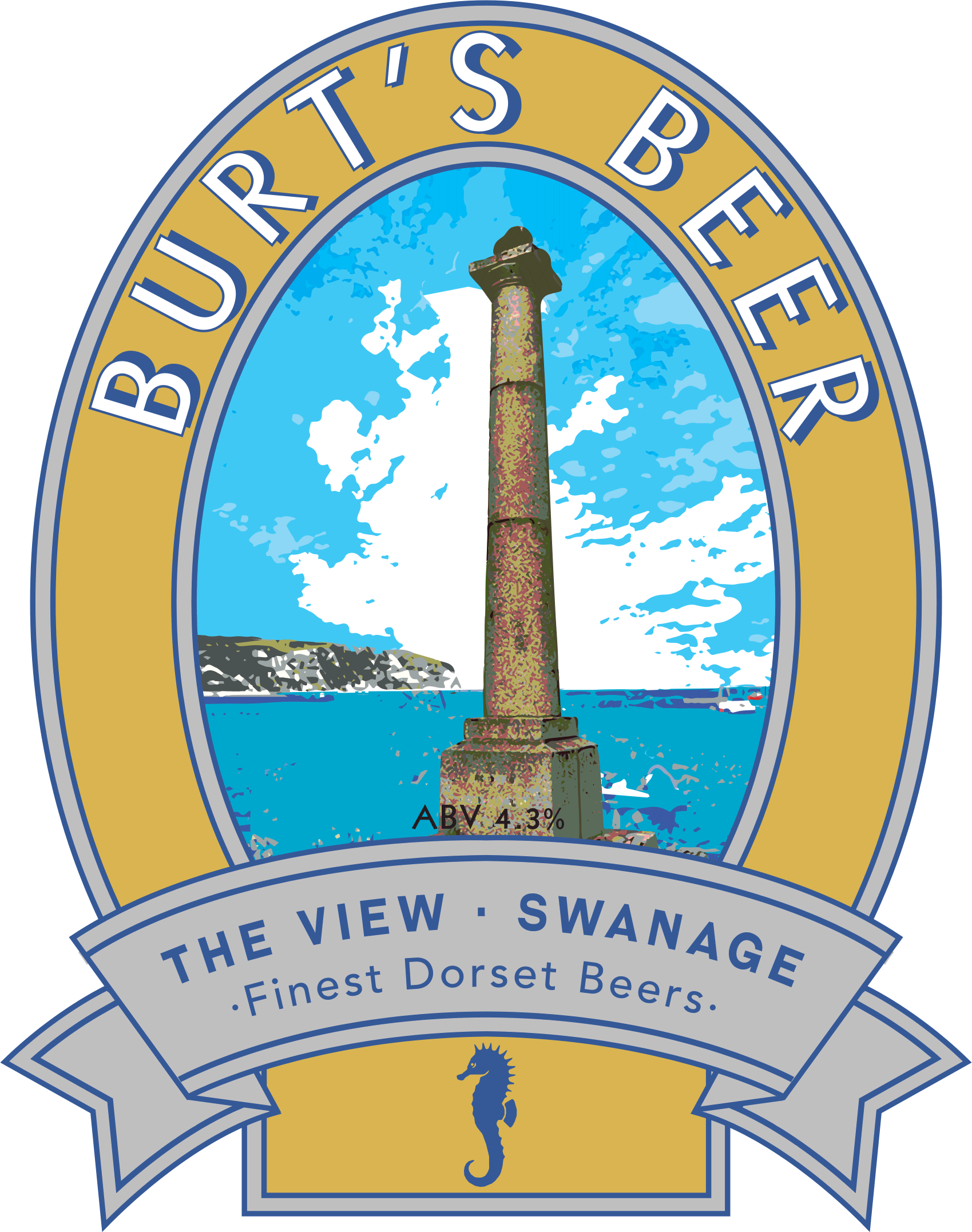 Isle of Purbeck Brewery Burt's Beer pumpclip PNG