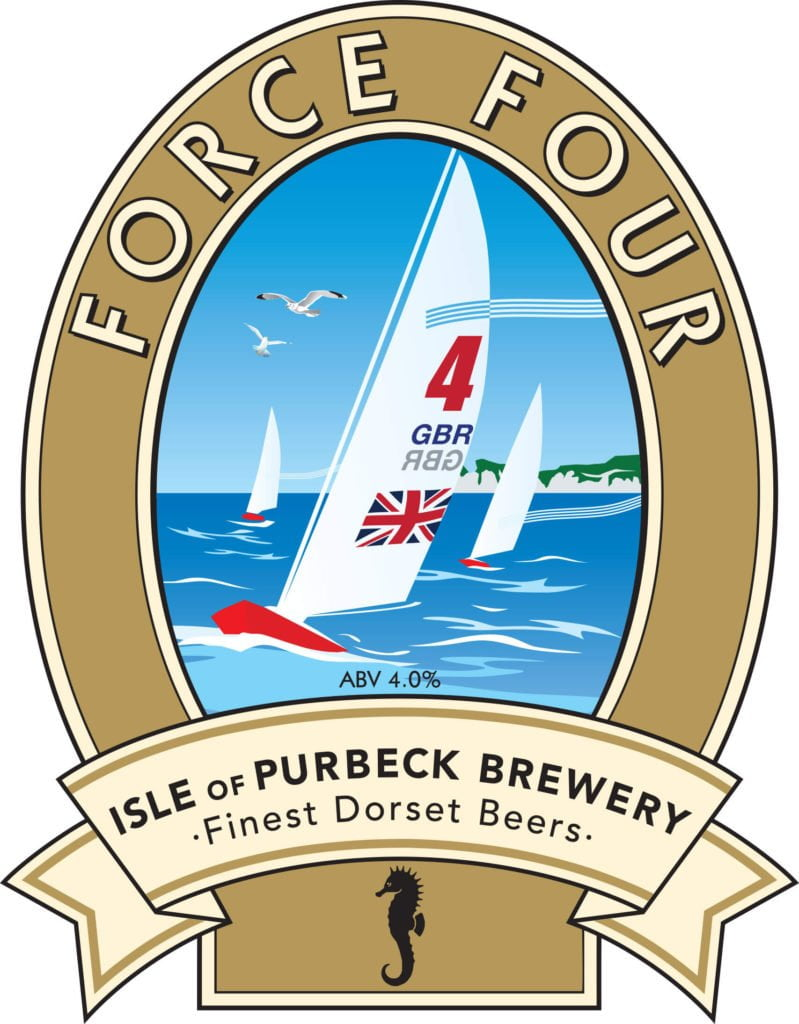 Isle of Purbeck Brewery Force Four pumpclip JPG