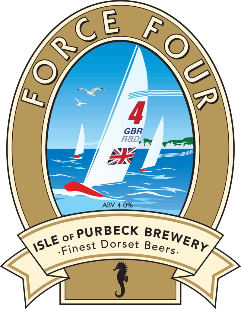 Isle of Purbeck Brewery Force Four pumpclip PNG