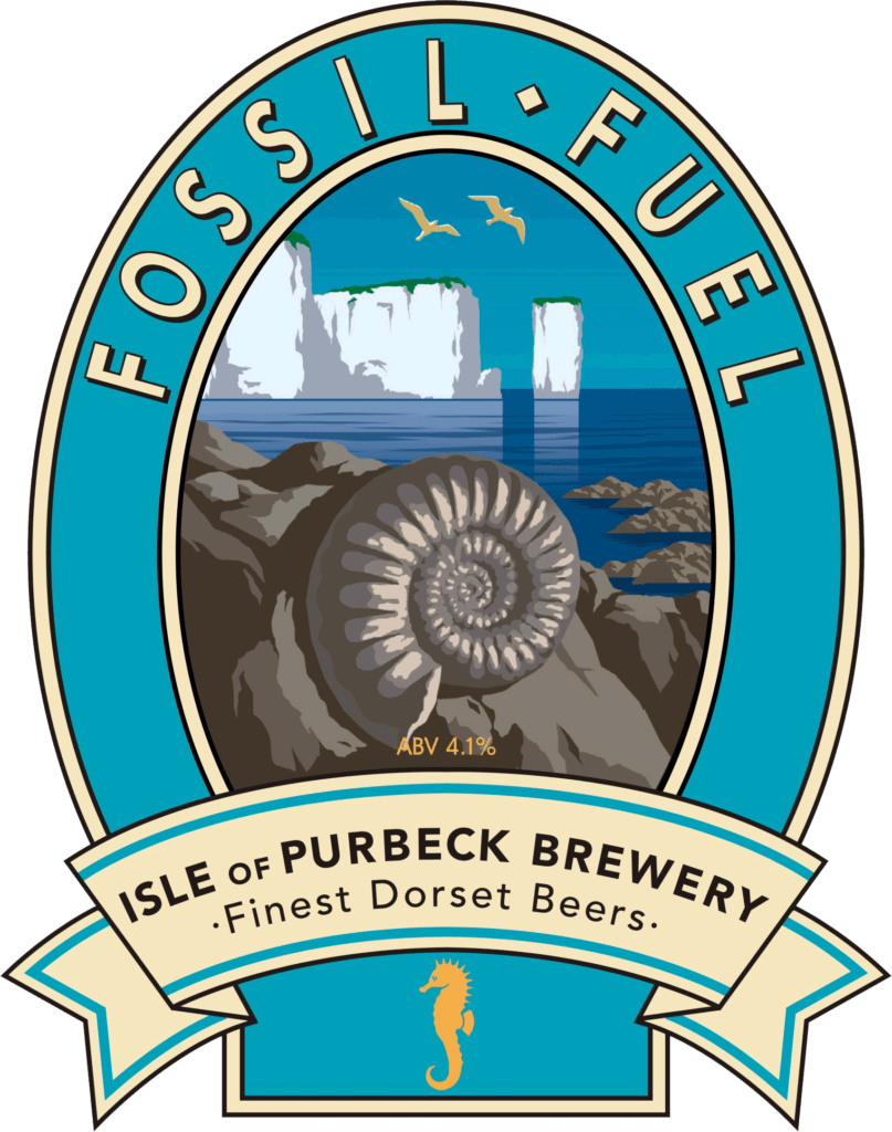 Isle of Purbeck Brewery Fossil Fuel pumpclip PNG