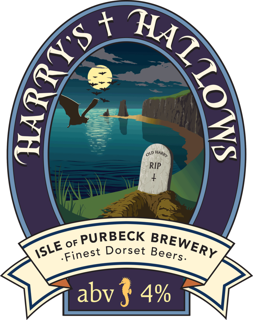 Isle of Purbeck Brewery Harry's Hallows pumpclip PNG