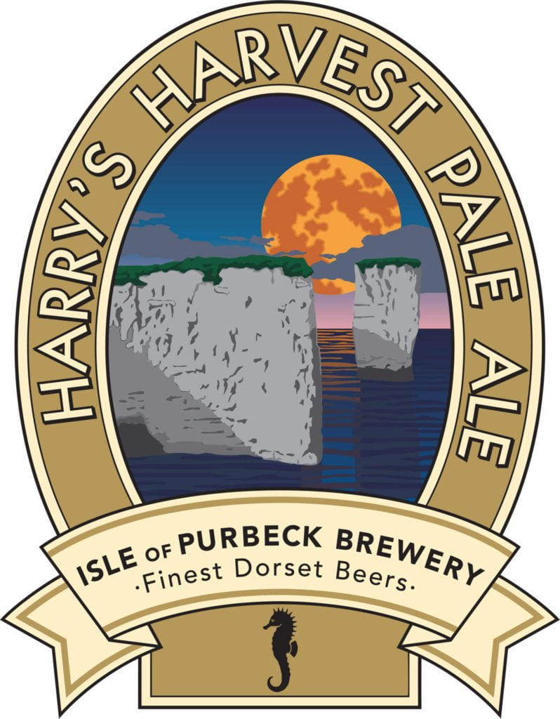Isle of Purbeck Brewery Harry's Harvest Pale Ale pumpclip JPG
