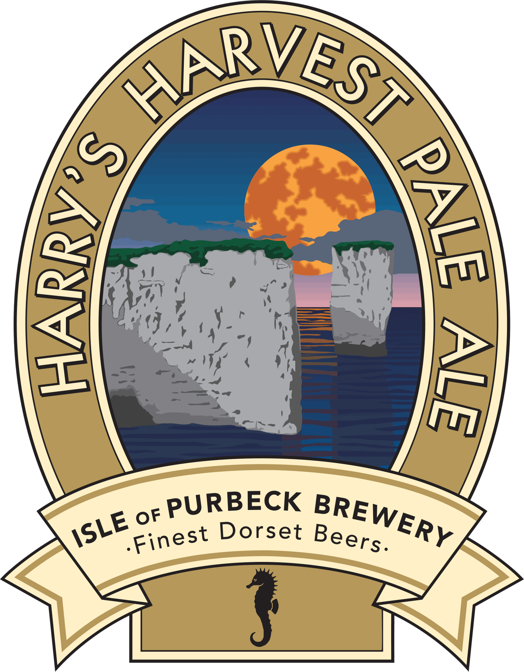 Isle of Purbeck Brewery Harry's Harvest Pale Ale pumpclip PNG