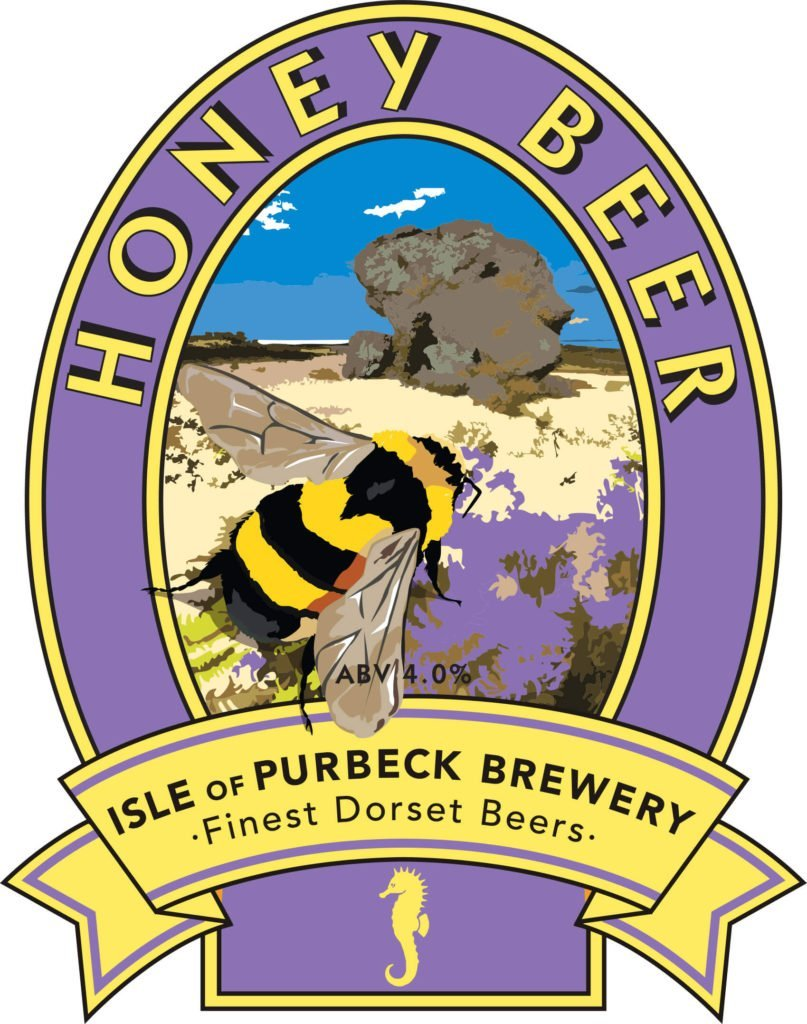 Isle of Purbeck Brewery Honey Beer pumpclip JPG