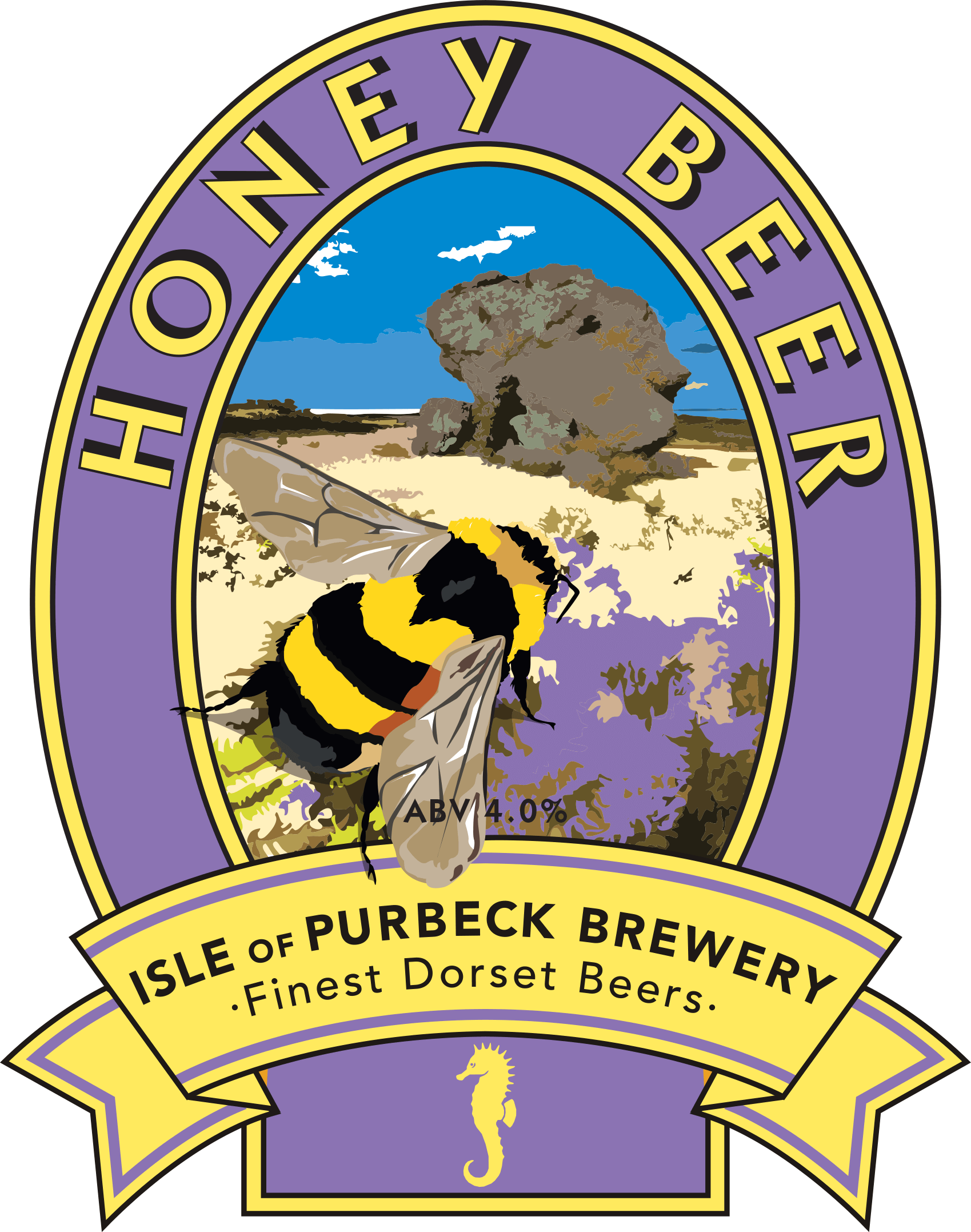 Isle of Purbeck Brewery Honey Beer pumpclip PNG