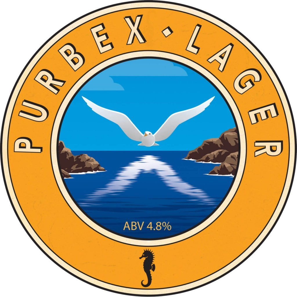 Isle of Purbeck Brewery Purbex Lager pumpclip JPG