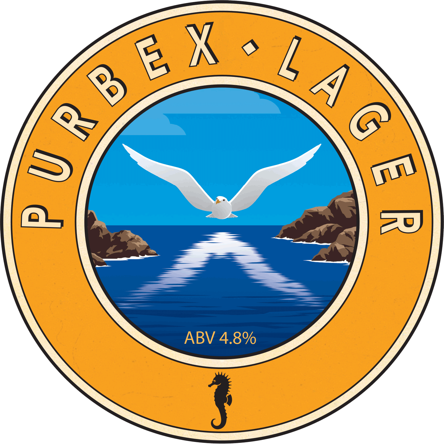 Isle of Purbeck Brewery Purbex Lager pumpclip PNG
