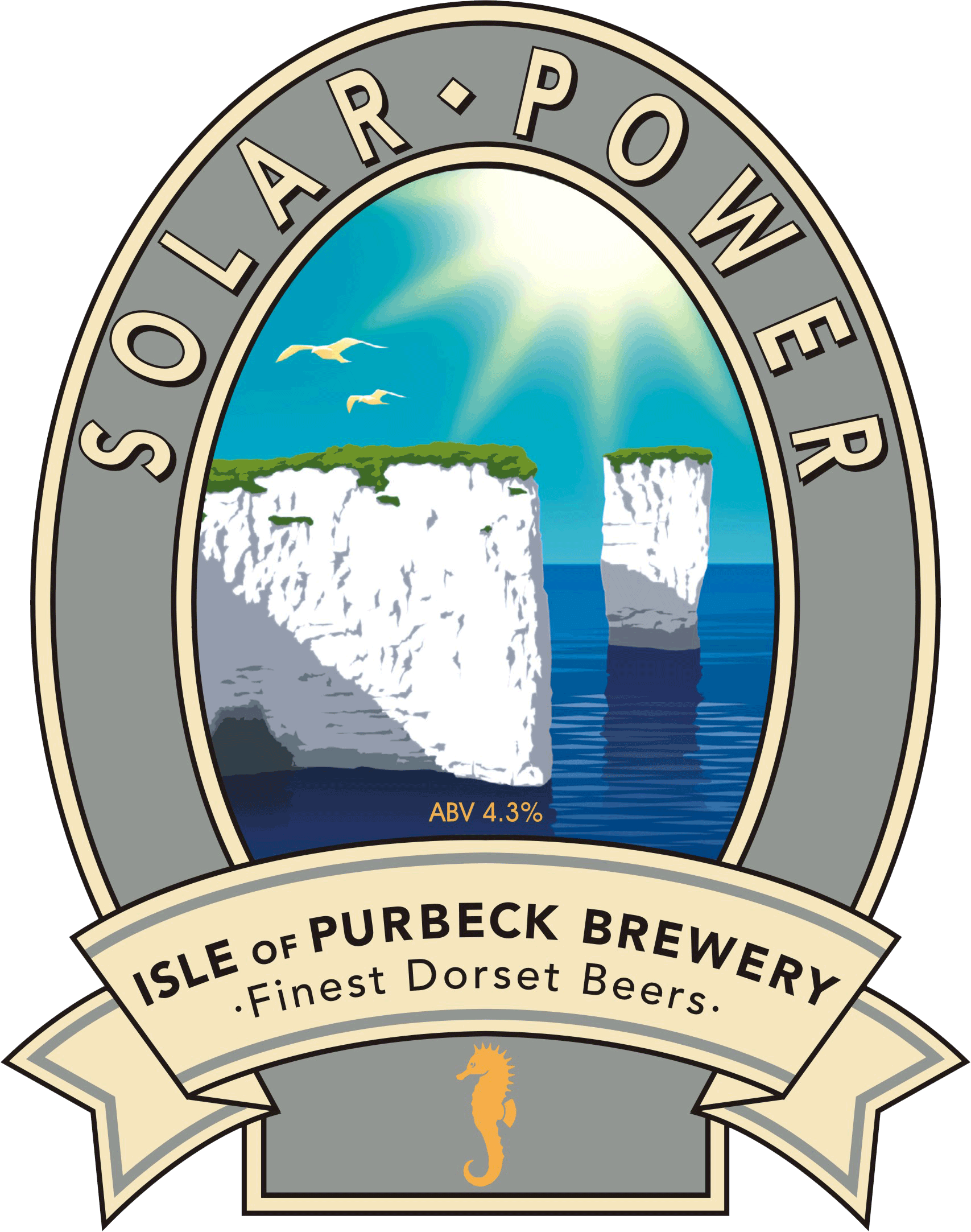 Isle of Purbeck Brewery Solar Power pumpclip PNG