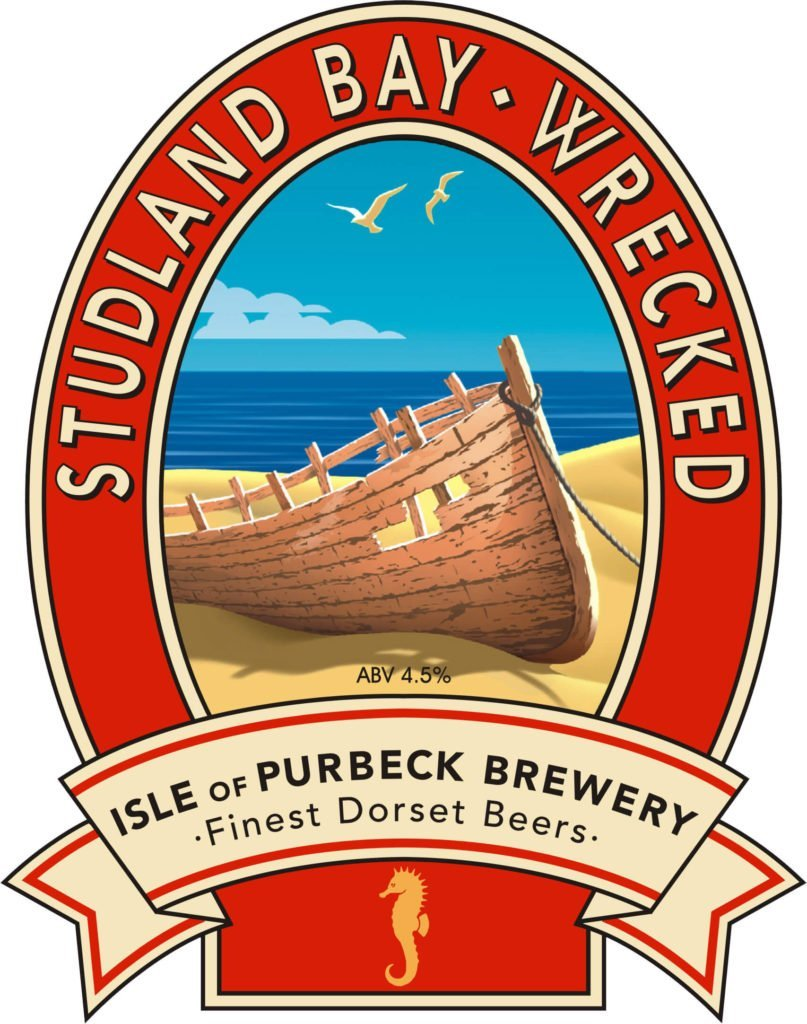 Isle of Purbeck Brewery Studland Bay Wrecked pumpclip JPG