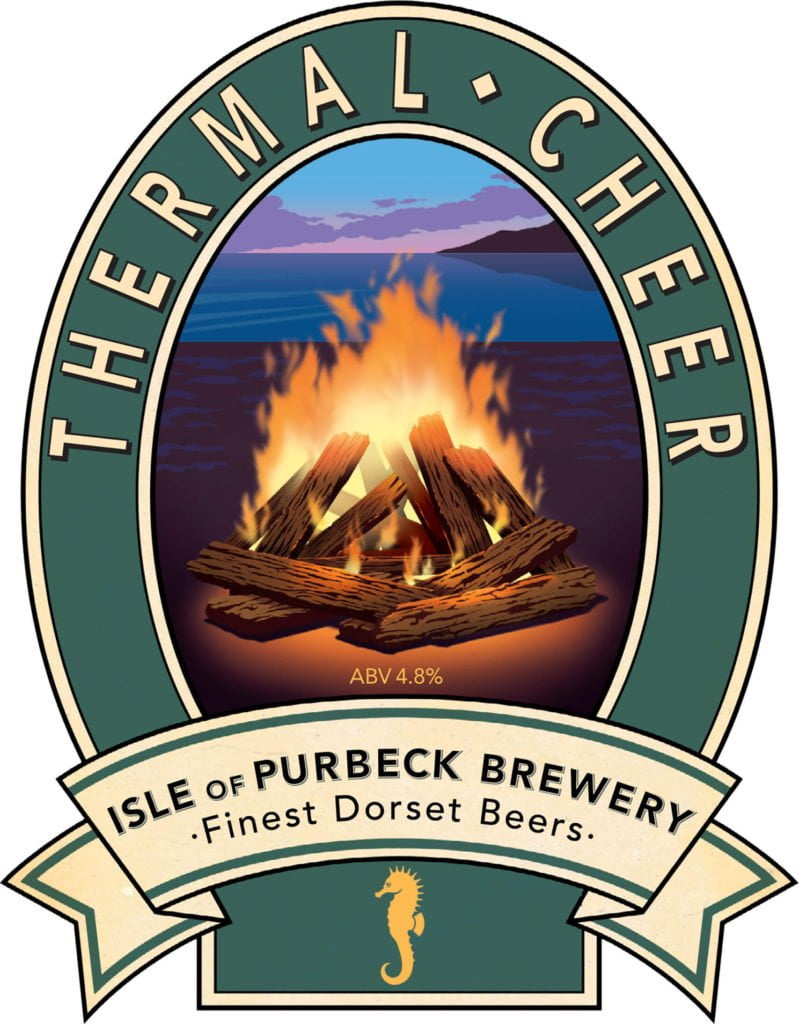 Isle of Purbeck Brewery Thermal Cheer pumpclip JPG