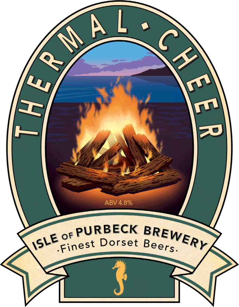 Isle of Purbeck Brewery Thermal Cheer pumpclip PNG